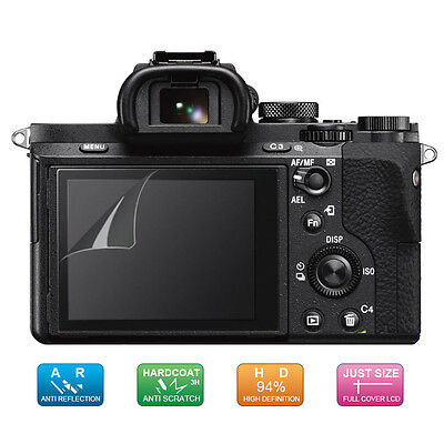 4x LCD Screen Protector Film for Sony Alpha A7 II III, A7S II, A7R II III, A77II