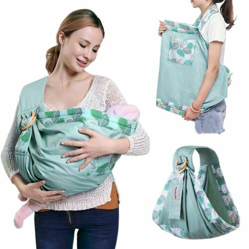 Baby Wrap Carrier Newborn Sling Dual Use Infant Nursing Cover Breastfeed 0-36M Baby