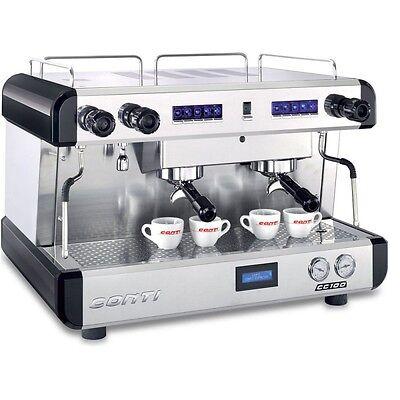 Conti 2 Group Commercial Espresso Machine Cc102 Standard - Made In Monaco 220v