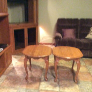 Two end Tables - Solid Oak (Grand-Falls, NB)