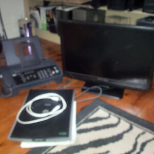 TV, fax phone combo and scanner for sale