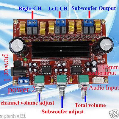 TPA3116D2 50Wx2+100W 2.1 Channel Digital Subwoofer Amplifier Board 12V-24V Power