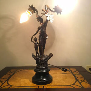 ART DECO NOUVEAU NEWEL POST LAMP
