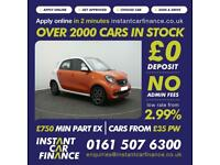 Smart forfour 1.0 ( 70bhp ) ( s/s ) 2015MY Prime FROM £38 PER WEEK