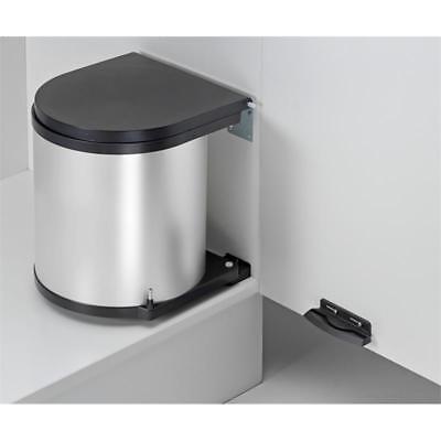 WESCO Einbau Abfallsammler 11 L rund silber Mülleimer Küche Schwenkeimer