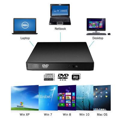 Grabadora y Lector de CD Externa Portátil USB con Cable para Windows y Mac