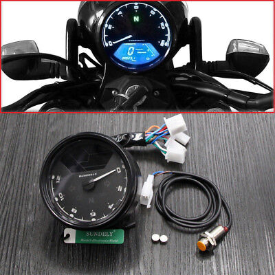 Dirt Bike Boat ATV LCD Digital Odometer Speedometer Tachometer Gauge Backlight