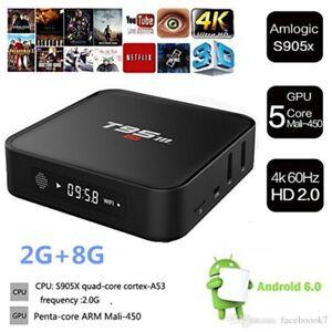 T95M S905X Smart TV BOX Android6 KODI XBMC LIVE TV MOVIES SPORT