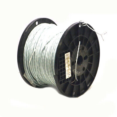 1785 20awg Copper Wire 2 Conductor 19 Strand 600v Etfe Shielded Mil-spec White