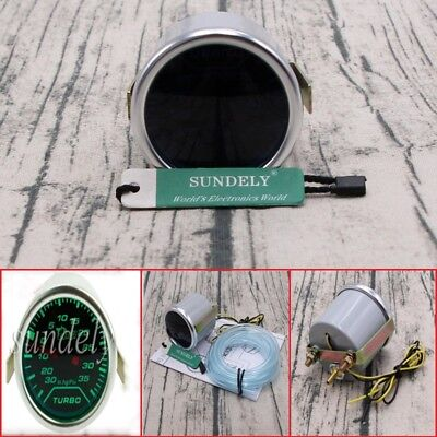 52mm 2″ Digital Green LED Turbo Boost Meter Gauge Smoke Face Tint Psi DC 12V uk
