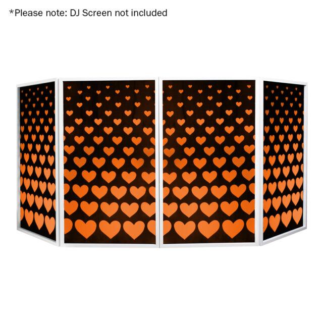 Equinox DJ Screen Heart Design Lycra (4 Pack) for Foldable Screen Disco Stand