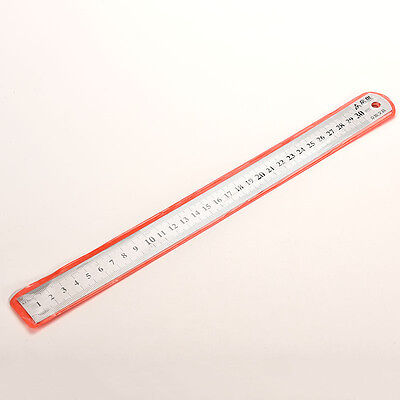 30cm Stainless Metal Ruler Metric Rule Precision Double Sided Measuring Tool VP
