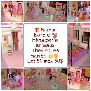 Maison Poupée Barbie Les Mariés Organisée Meublée 60 mcx