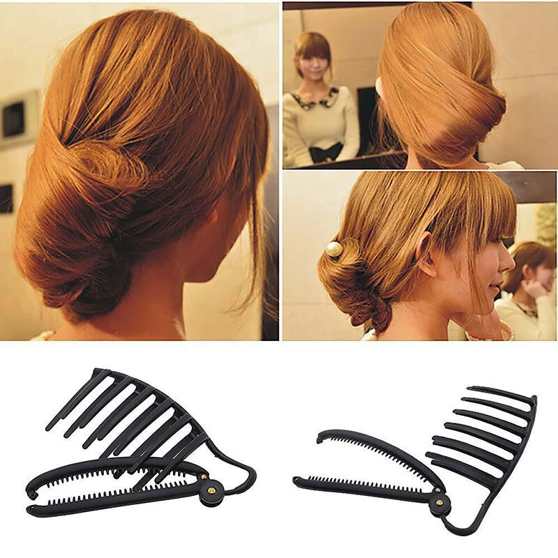 magic women diy hair styling updo bun