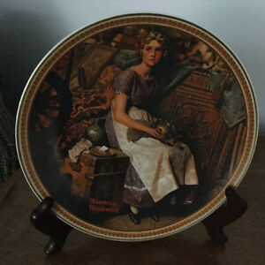 Norman Rockwell plates, with certificates