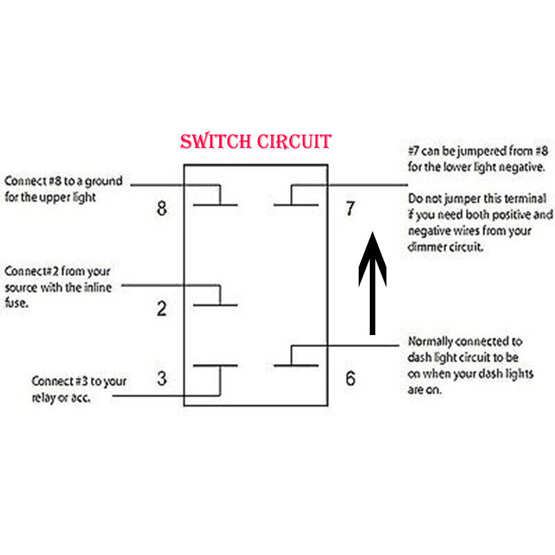 Details About 12v On Off 5 Pins White Led Light Bar Rocker Switch Wiring Harness Relay Fuse