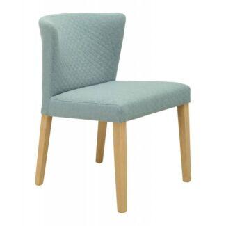 Fabric Seat Wooden Legs Rhoda Chair In Aquamarine