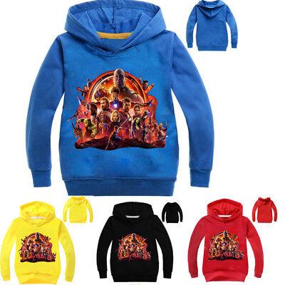 Marvel's The Avengers Kinder Jungen Baumwolle Hoodies Kapuzenpullover Sweatshirt