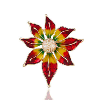 New clothing fashion metal color pin high-grade oil flower brooch