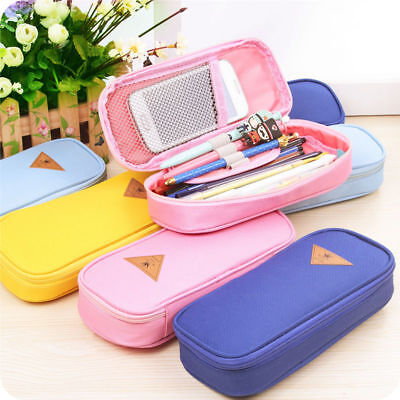 Cute Large Capacity Pen Pencil Case Pen Box School Stationery Cosmetic Bag New - Pencil Boxes