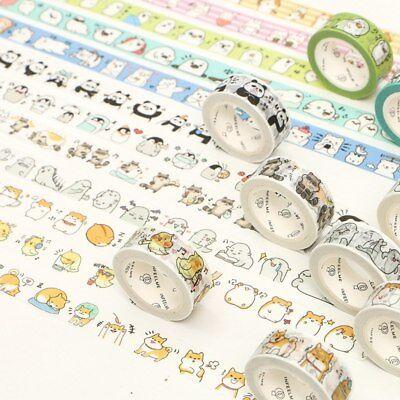 2pcs Cute Cartoon Washi Tape Kawaii Masking Tapes DIY Scrapbooking Stickers - Scrapbooking Tape