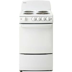 Danby 20 inch Electric Range, Coil Elements,Push and Turn Safety Knobs,Manual