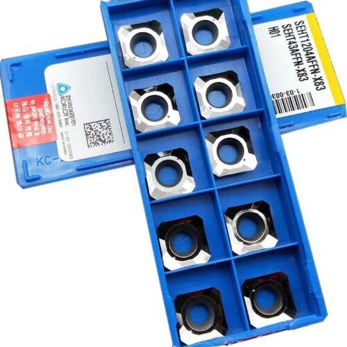 10pc SEHT1204AFFN-X83 H01/ SEHT43AFFN-X83 H01 Carbide Blades Insert for Aluminum