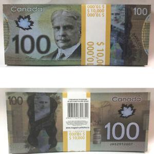 Prop money $ 100Canada Dollars 100% Novelty Souvenir