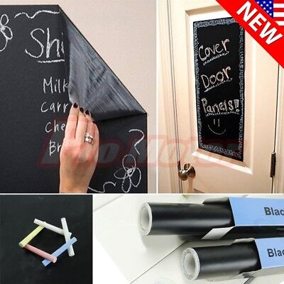 Large Chalk Board (200 X 45cm Chalk Board Blackboard Removable Vinyl Wall Sticker Decal)