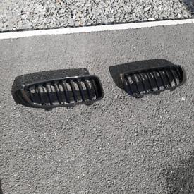 Kidney grilles - BMW 4 SERIES F32 Gloss black