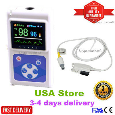 Contec Oled Hand-held Pulse Oximeter Spo2 Blood Oxygen Monitor Usb Pc Software