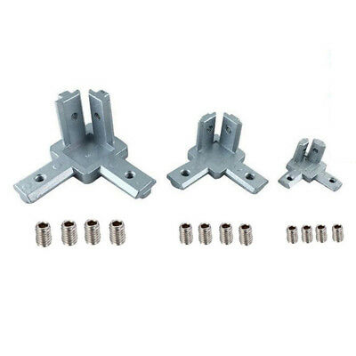 2020 3030 4040 T Slot Aluminum Profile 3-way Corner Bracket Screw For 3d Printer