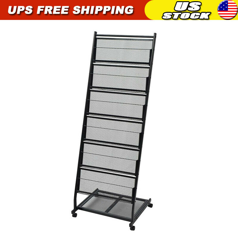 Freestanding Magazine Books Rack Home Office Comic Display Organizer Stand