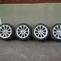 Michelin X-Ice on rims for BMW 335