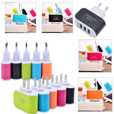 Ac Wall (7565 3-Port USB Wall Home Travel AC LED Power Charger Adapter 3.1A EU/US Plug)