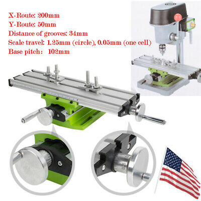 Us Worktable Milling Machine Table Cross Sliding X Y Axis Bench Drill Press Vise