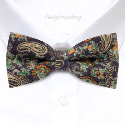 *BRAND NEW*MULTI-COLORED PAISLEY UNIQUE MENS BOWTIE B345