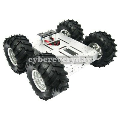 4wd Aluminum Mobile Robot Platform Educational Car Chassis Vehiclemotor Reducer