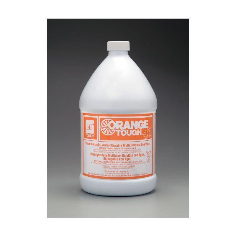 Spartan Orange Tough 40 Industrial Cleaner, Gallons, 4 Per Case