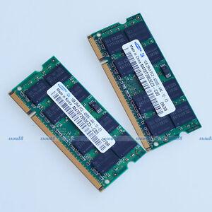 Samsung 2GB 2x1GB PC2-4200 DDR2 533 533Mhz 200pin Laptop Memory SO-DIMM RAM NEU