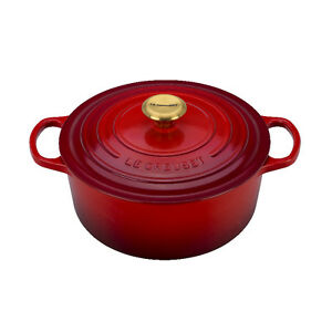 NEW Le Creuset Enameled Cast-Iron 4.5 Qt Round French Oven