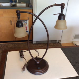 BNIB: DOUBLE ARCHED TABLE / DESK LAMP | NEVER USED!!!
