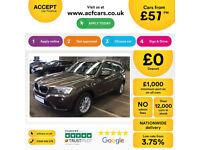 Bronze BMW X3 2.0TD 2013 xDrive20d SE FROM £57 PER WEEK!