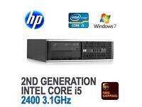HP Compaq 8200 Elite SFF PC Quad i5 2600 3.40GHz 8GB Ram 750GB HDD RW 2ND GEN
