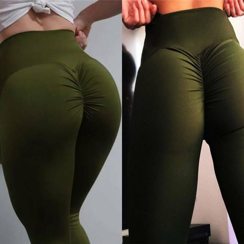 Damen Anti-Cellulite Kompression LegginGs Yoga Fitnessstudio Lift Elastisch Hose