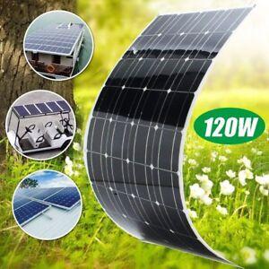 Mono Flexible Bendable 120w 120 Watt Lightweight Solar Panel 12v Battery OffGrid