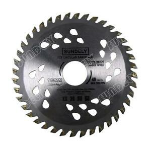 SUNDELY 115mm Angle Grinder saw blade for wood and plastic 40 TCT Teeth