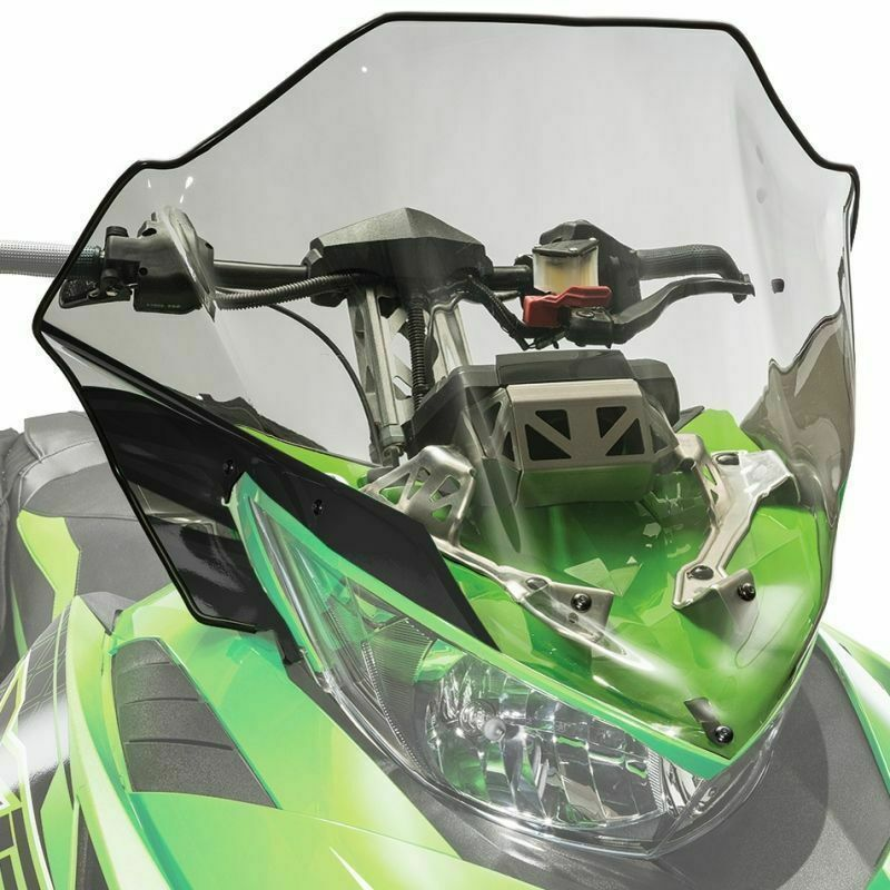Arctic Cat Mid Windshield Clear Tinted w Black READ LISTING FOR FITMENT 7639-368