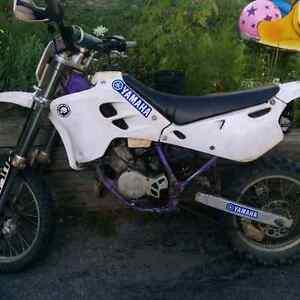 Rare 1994 yamaha yz80 purple frame, scary fast!