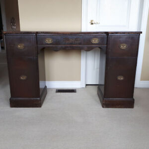 Sleek Art Deco Buffet/Desk manufactured by Hastings Table Co